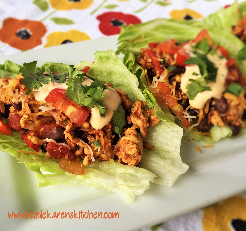 Turkey Taco Lettuce Wraps 1
