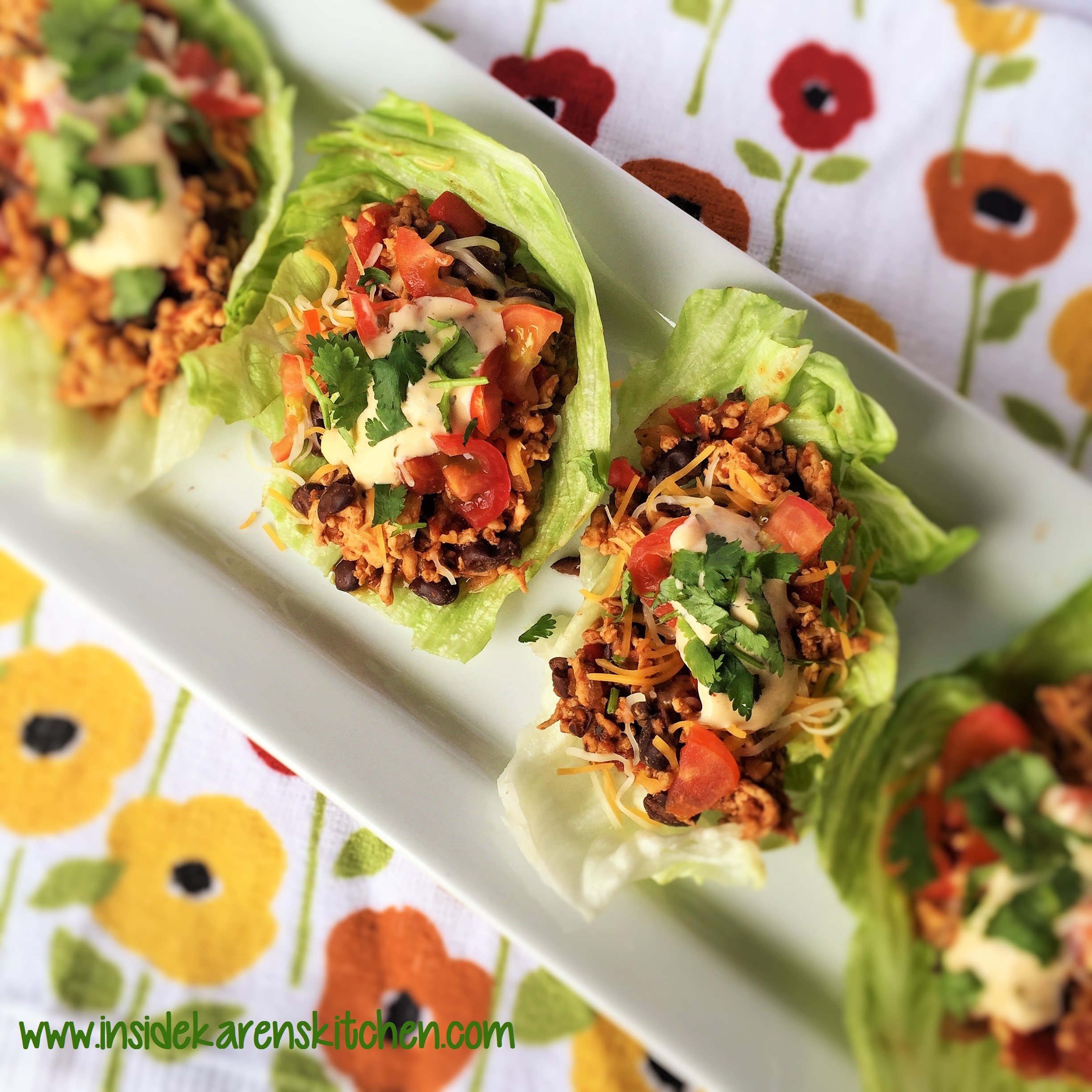 Turkey Taco Lettuce Wraps | Inside Karen's Kitchen