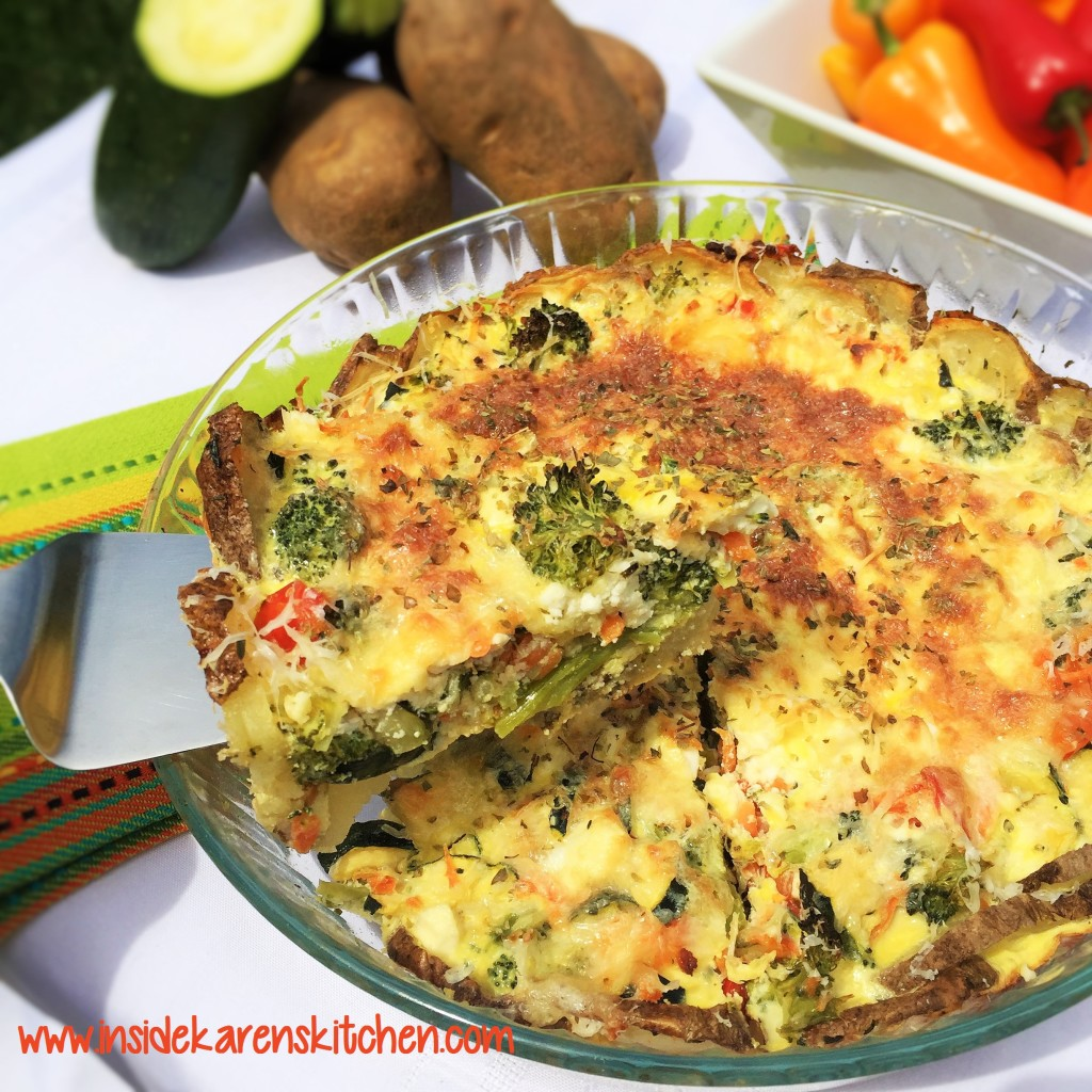 Potato-Crusted Summer Vegetable Quiche 1