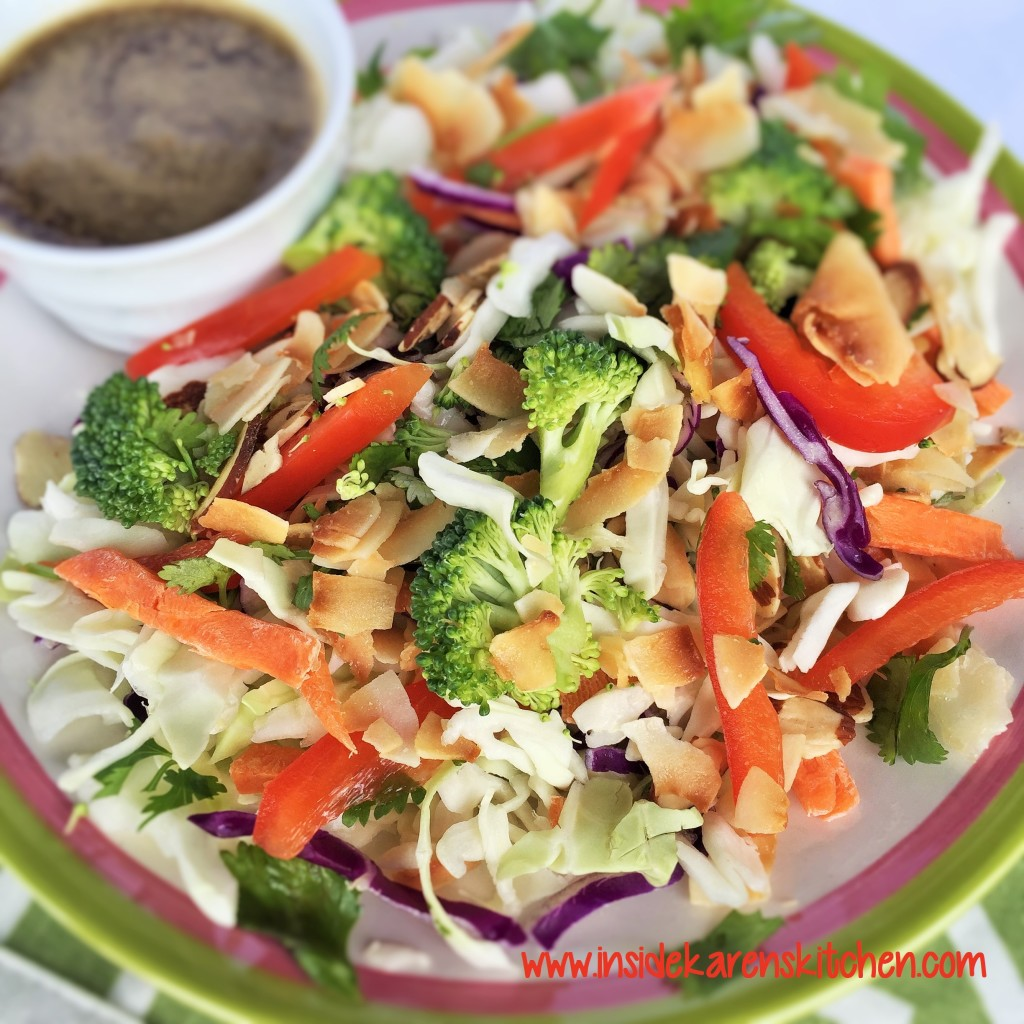 Crunchy Coconut Asian Salad with Sesame Ginger Dressing 3