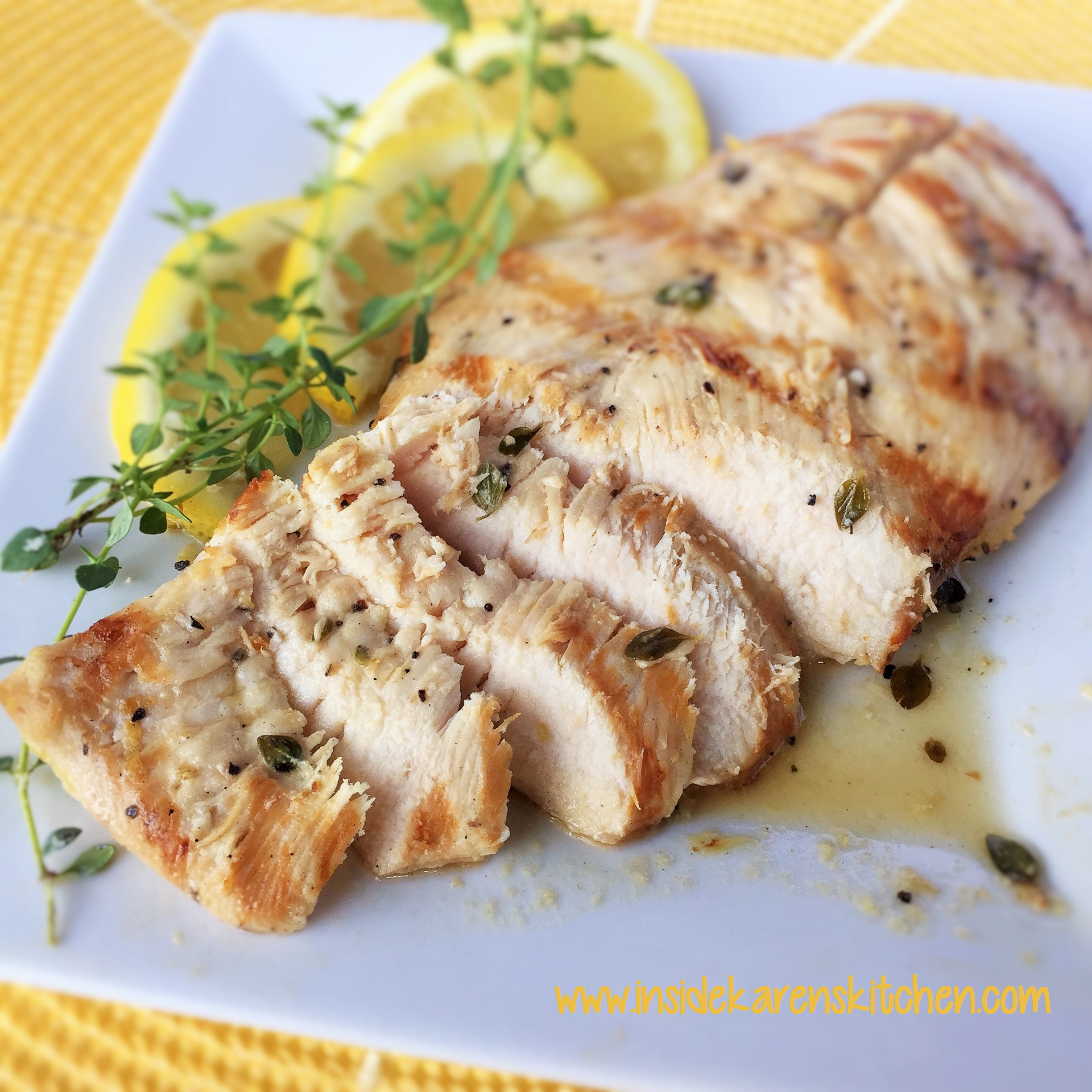 photo Grilled Thyme Chicken Breasts