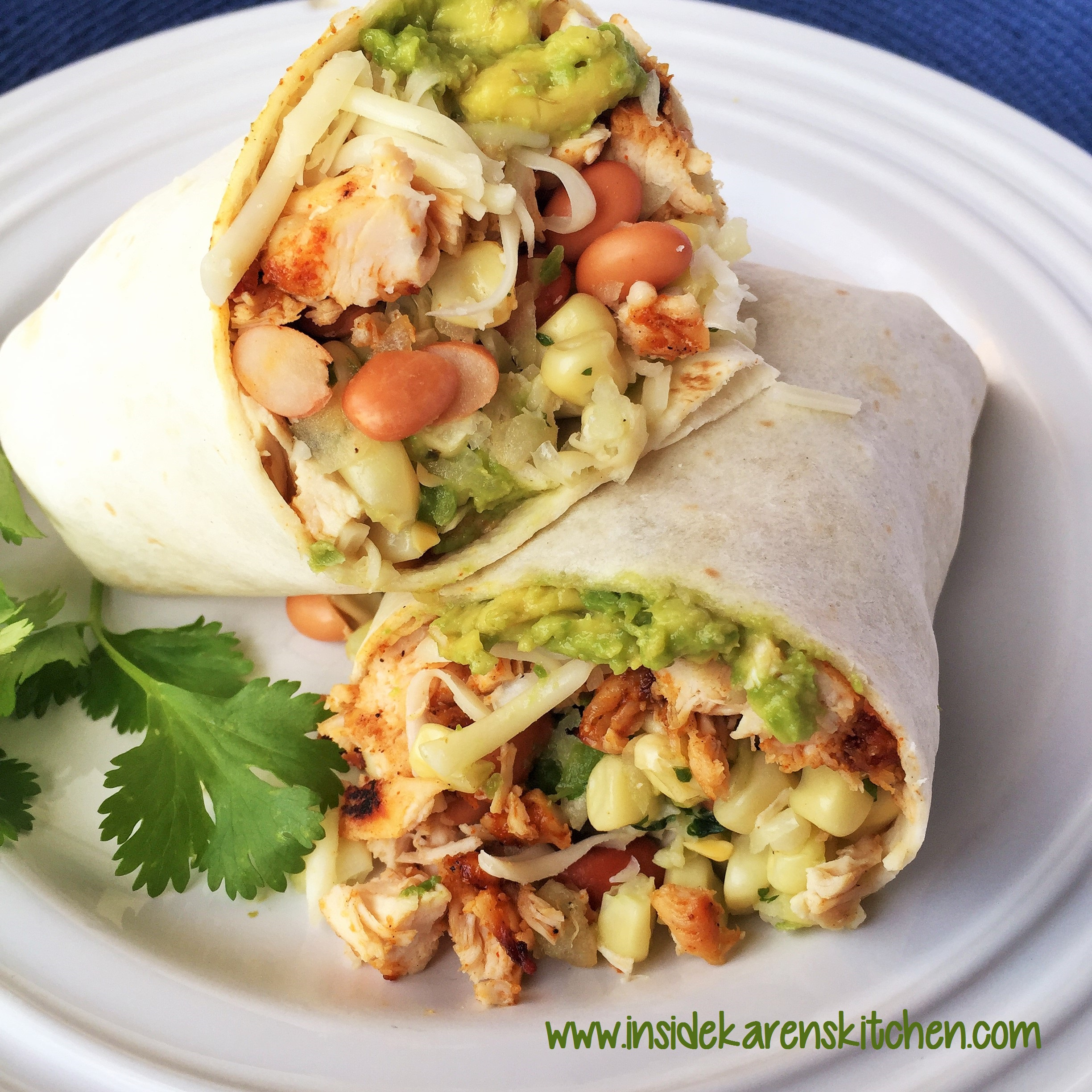 Spicy Grilled Chicken and Bean Burritos with Sweet White ...