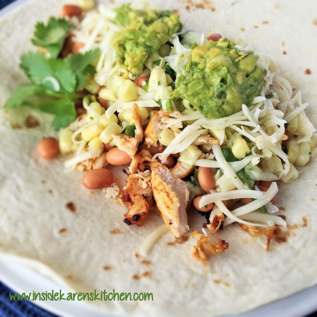 Spicy Grilled Chicken and Bean Burritos with Sweet White Corn Salsa 2