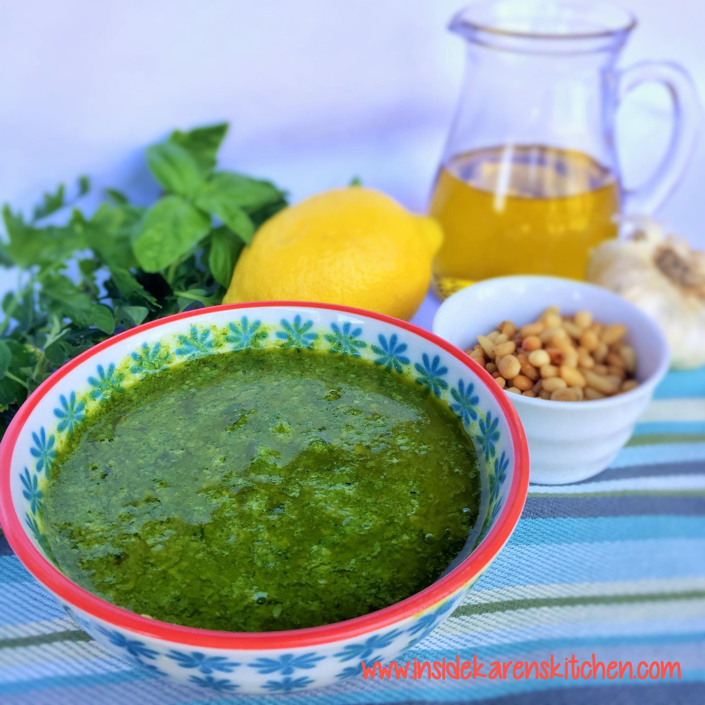 Fresh Basil Pesto | Inside Karen's Kitchen