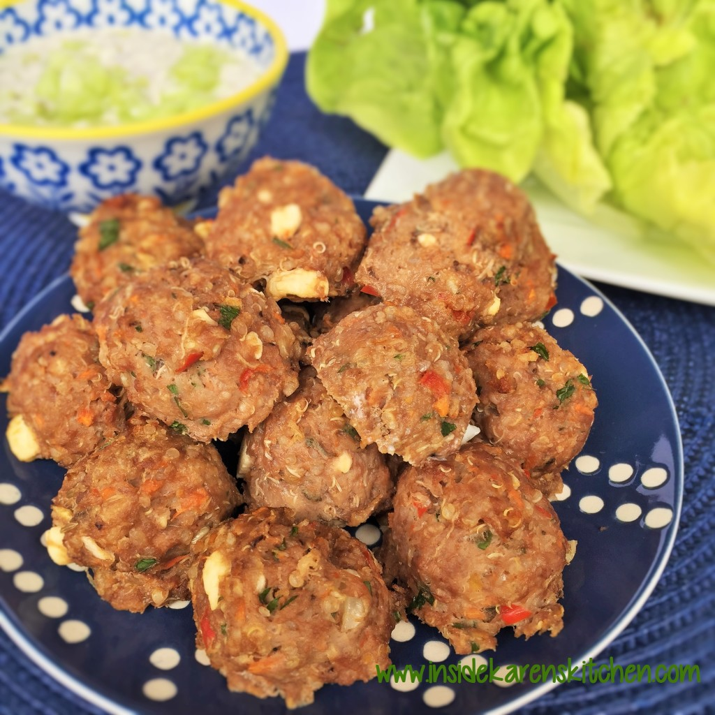 Greek Quinoa Beef Meatballs 3