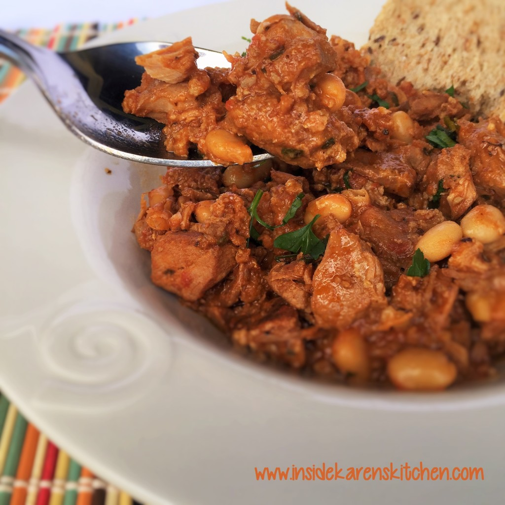 Slow Cooker Pork and White Beans 1
