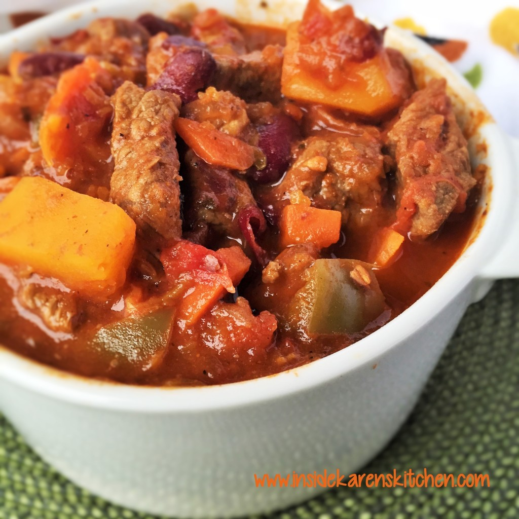 Beef and Butternut Squash Chili