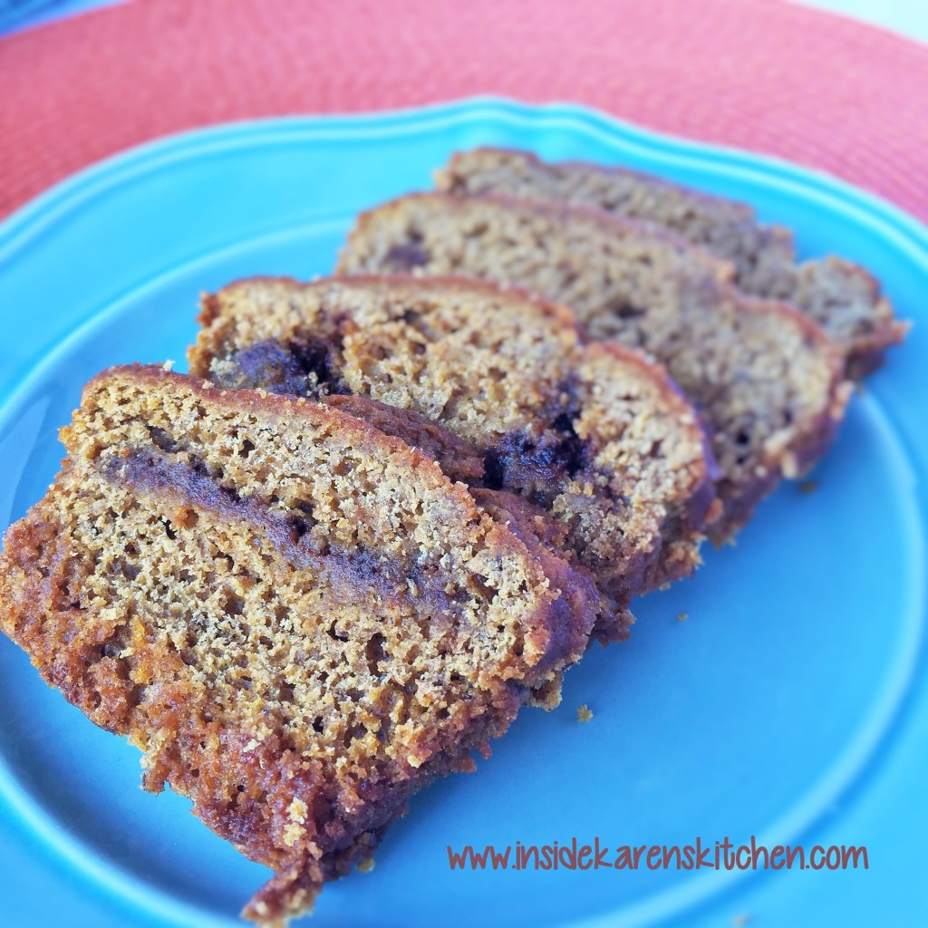 Pumpkin Banana Bread with Cinnamon Swirl 1