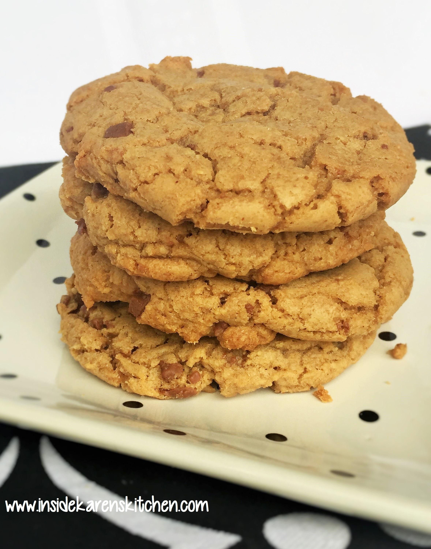 Peanut Butter Toffee Crunch Cookies | Inside Karen's Kitchen