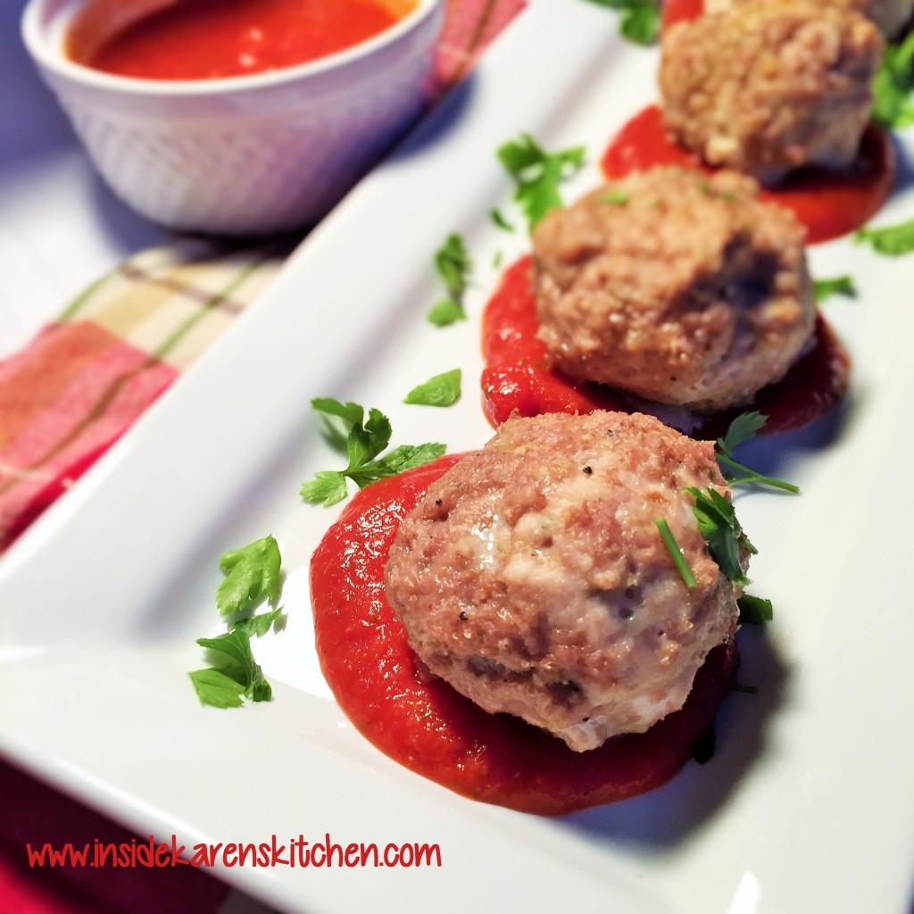 Cheesy Turkey Meatballs with Marinara Sauce 1