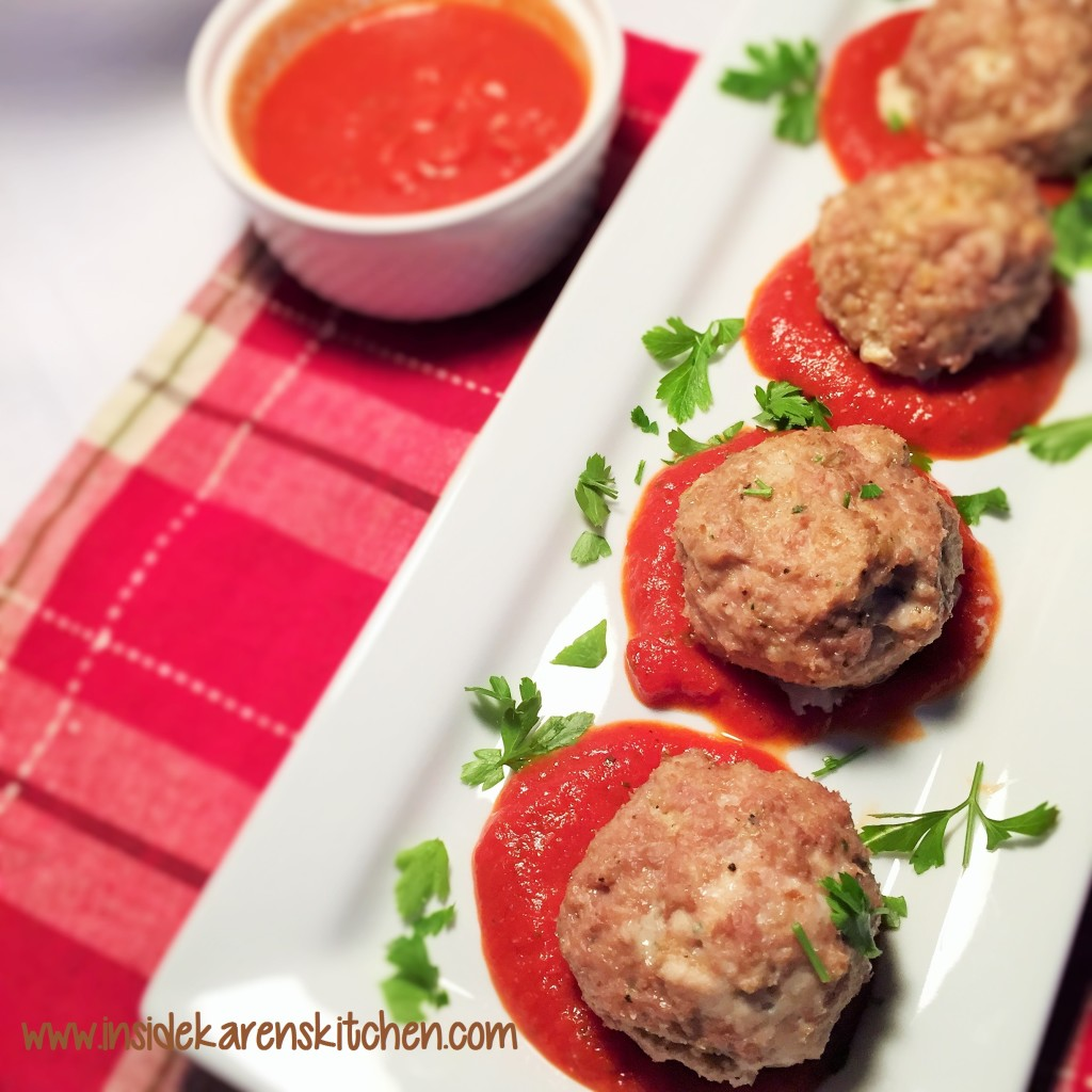 Cheesy Turkey Meatballs with Marinara Sauce 3