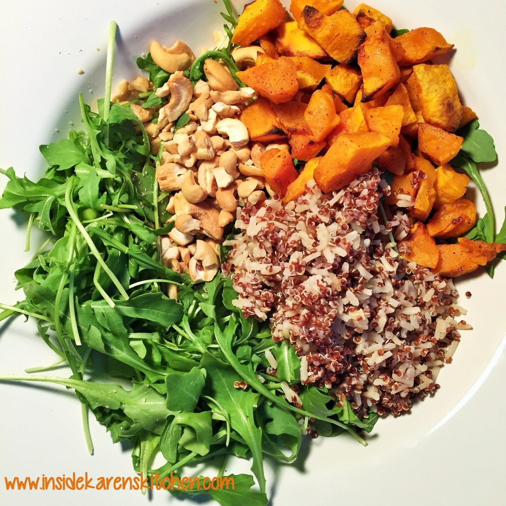 Roasted Butternut Squash and Quinoa Arugula Salad 1