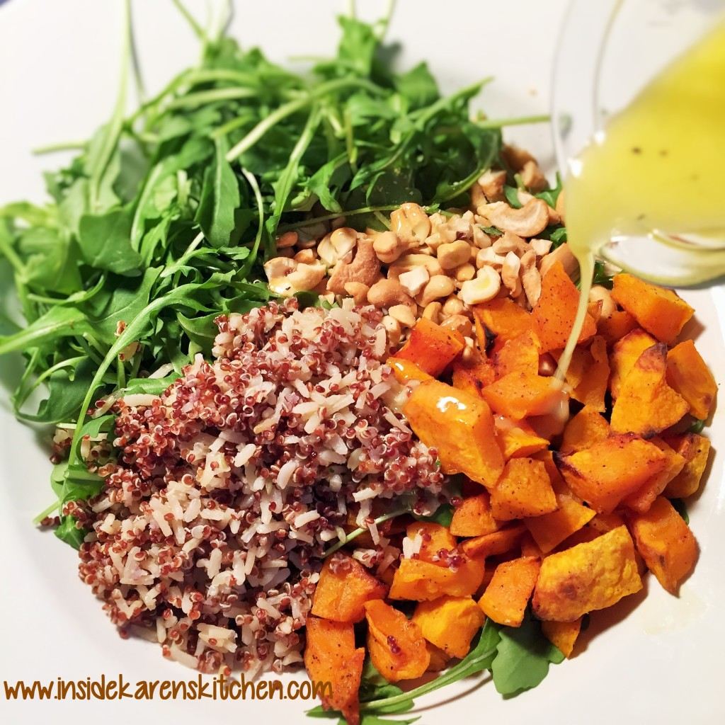 Roasted Butternut Squash and Quinoa Arugula Salad 2