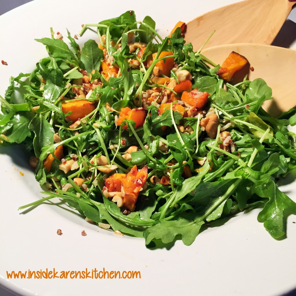 Roasted Butternut Squash and Quinoa Arugula Salad 3