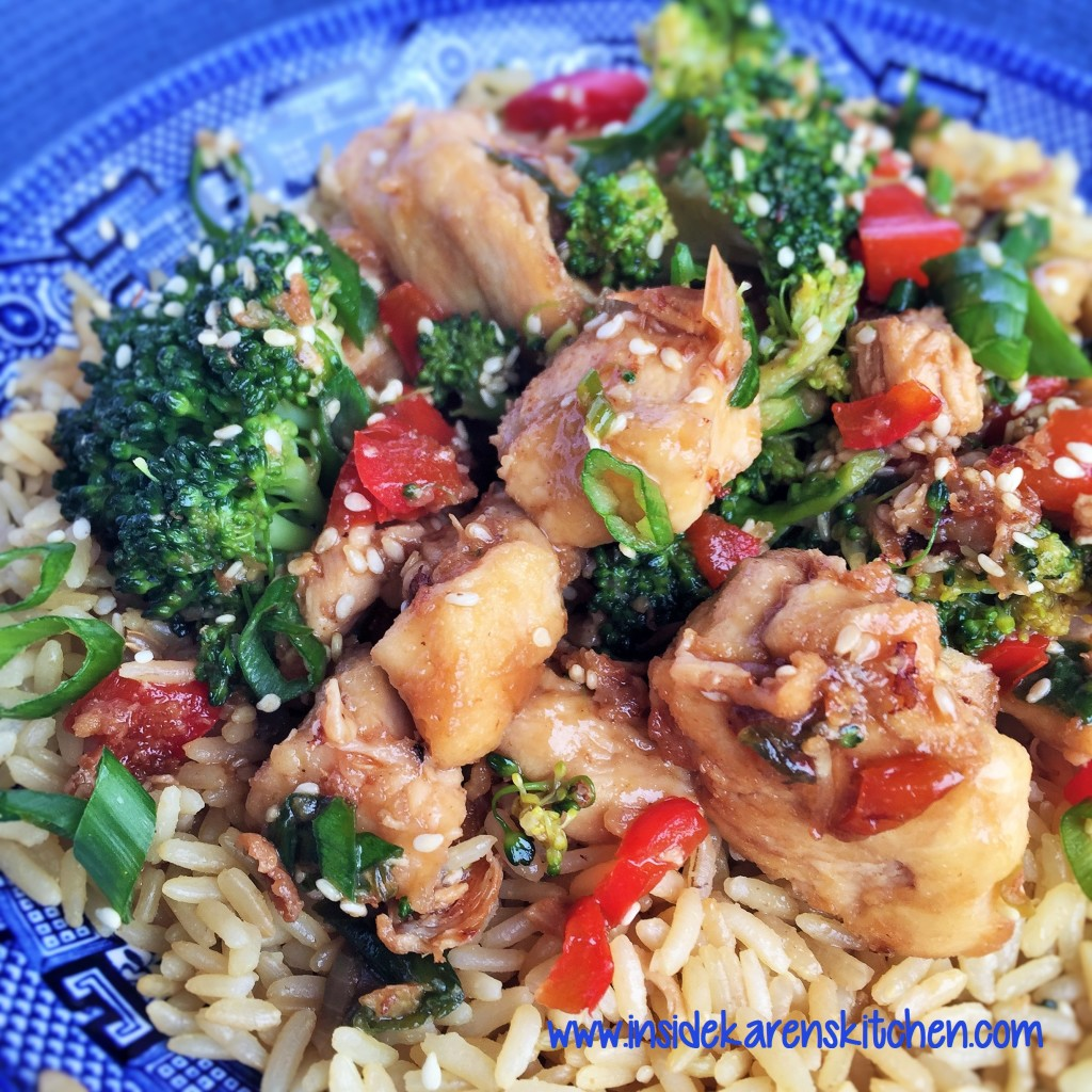 Sesame Chicken and Broccoli 1