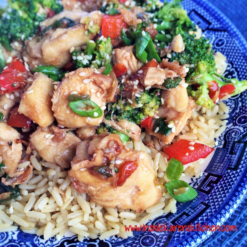 Sesame Chicken and Broccoli 2