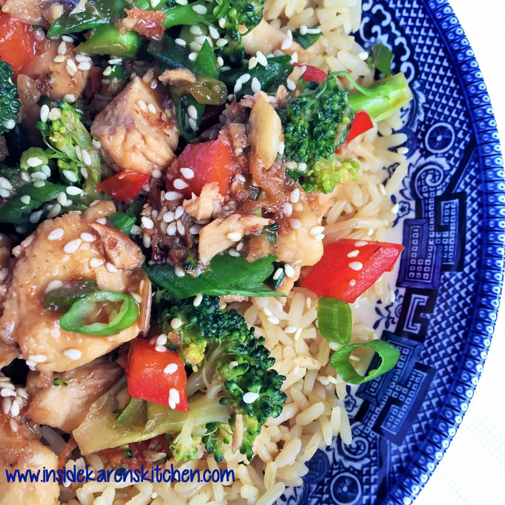 Sesame Chicken and Broccoli