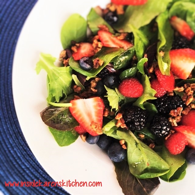Berries and Nuts Spinach Salad wilth Poppyseed Dressing 2