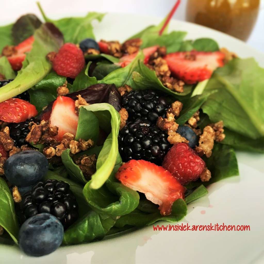 Berries and Nuts Spinach Salad wilth Poppyseed Dressing 3