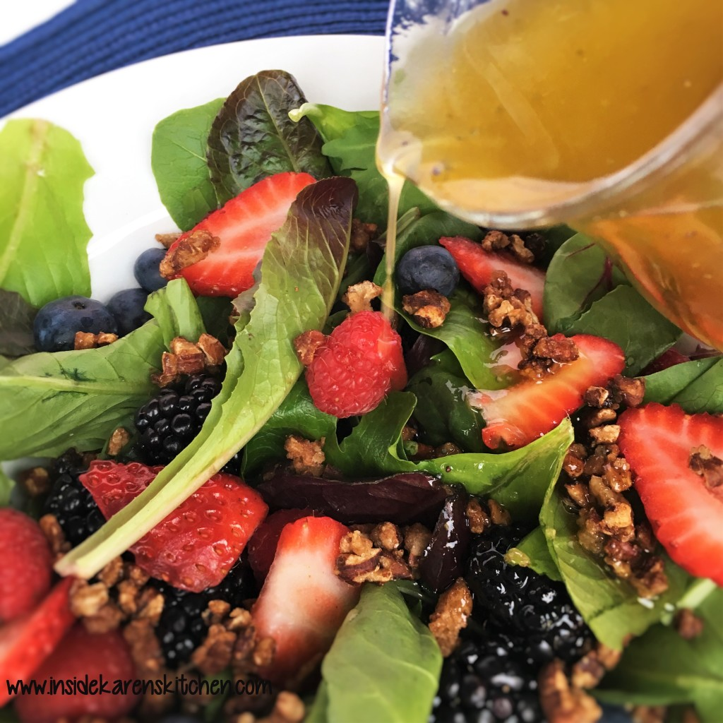 Berries and Nuts Spinach Salad wilth Poppyseed Dressing 4