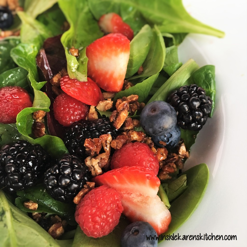 Berries and Nuts Spinach Salad wilth Poppyseed Dressing 5