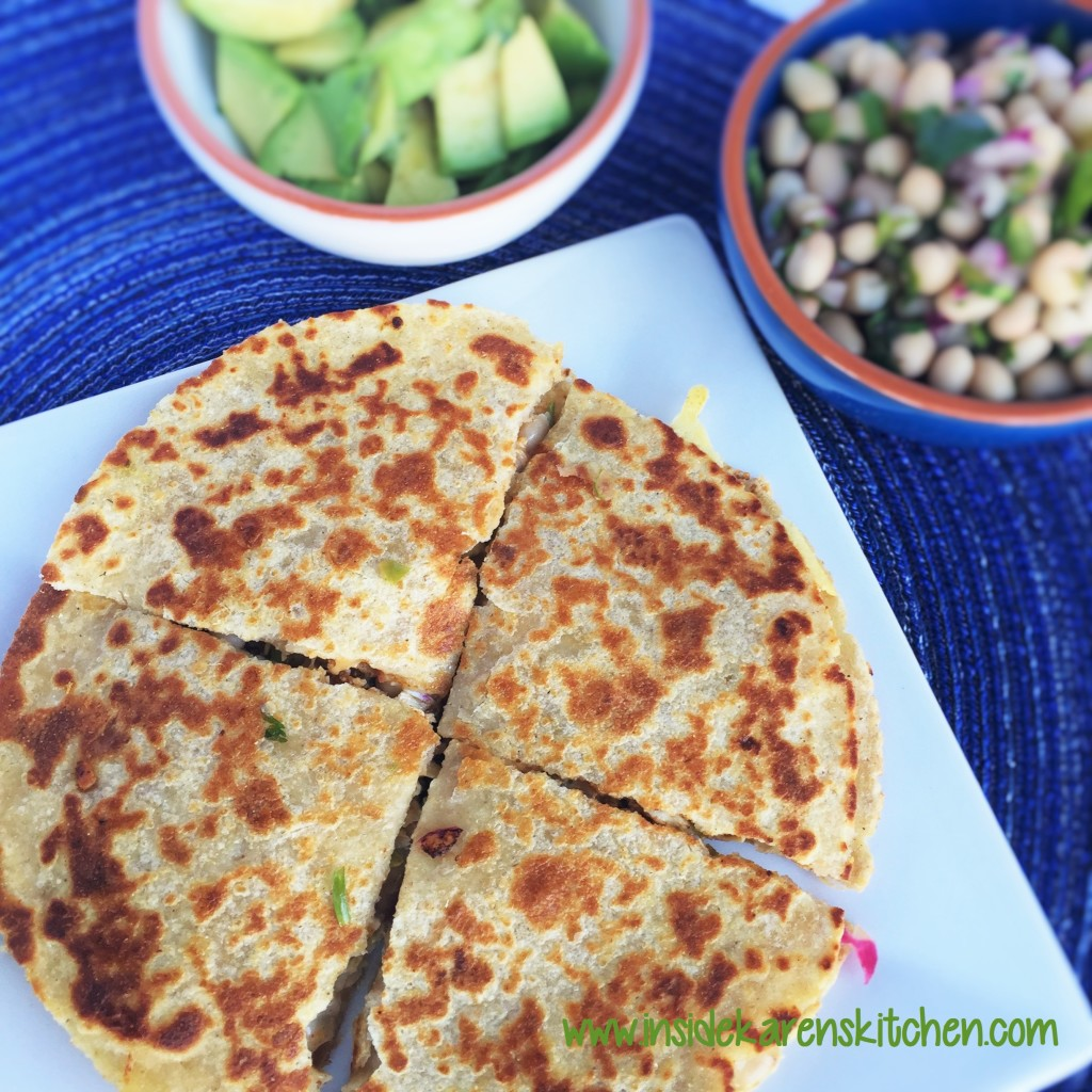 Chicken Quesadillas with White Bean Salsa 1