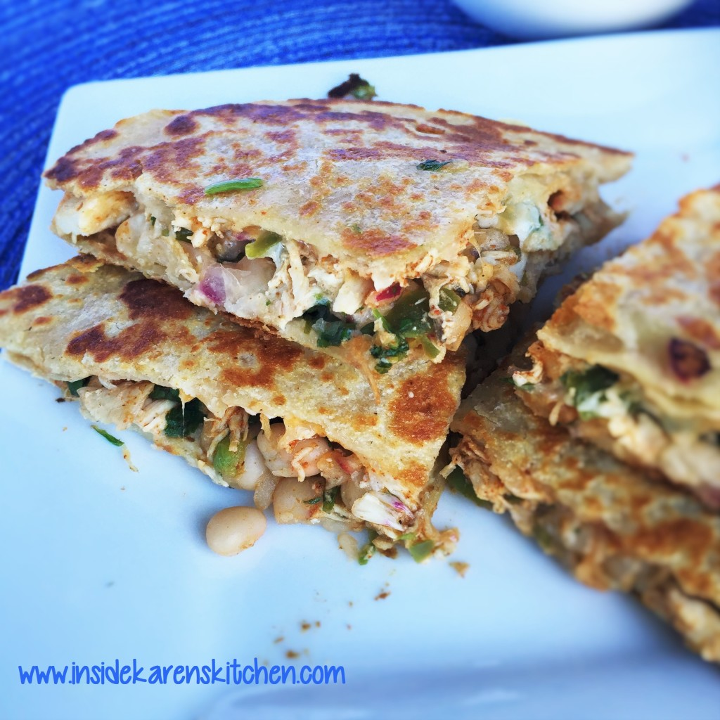 Chicken Quesadillas with White Bean Salsa 2