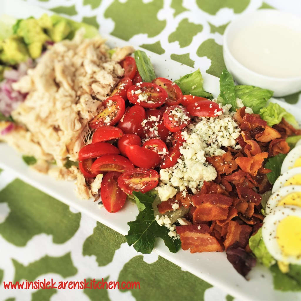 Classic Chicken Cobb Salad with Bleu Cheese Greek Yogurt Dressing 2