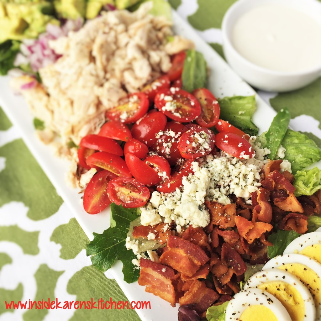 Classic Chicken Cobb Salad with Bleu Cheese Greek Yogurt Dressing 3