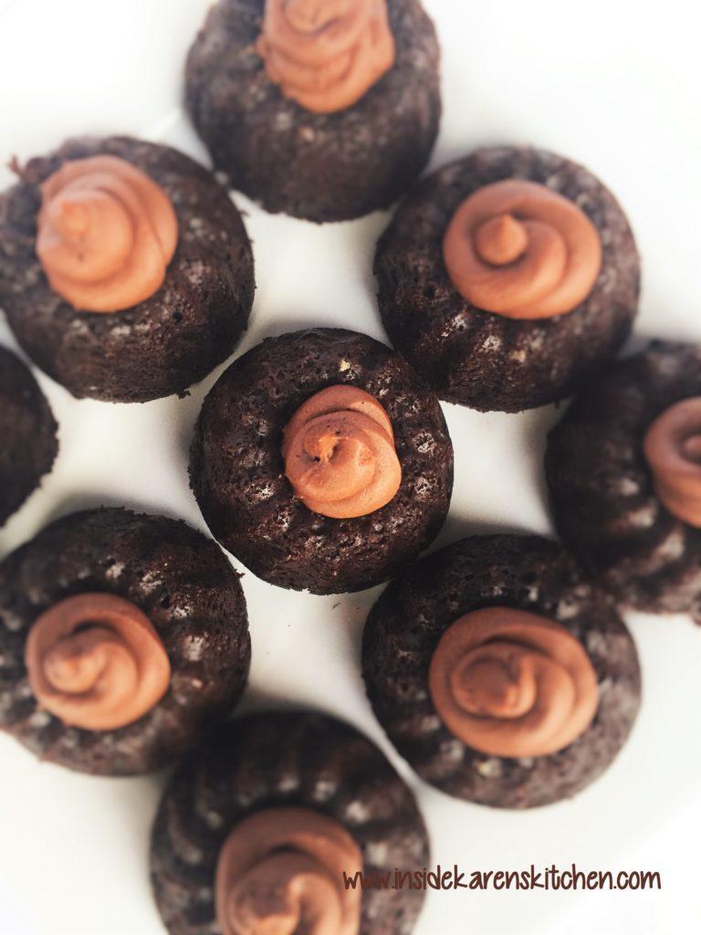 Double Chocolate Mini Bundt Cakes 1