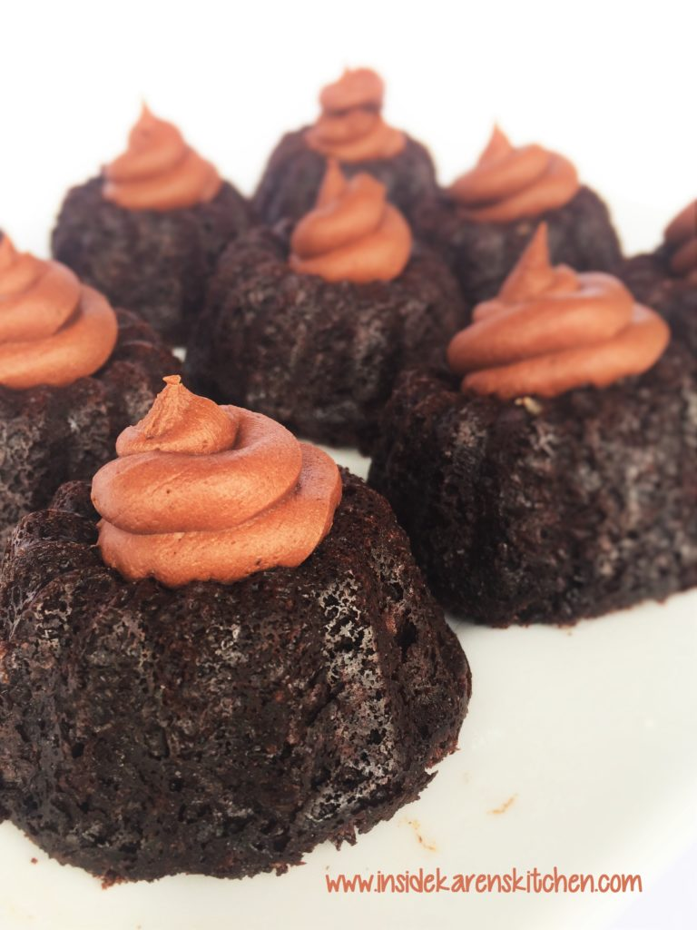 Double Chocolate Mini Bundt Cakes 2