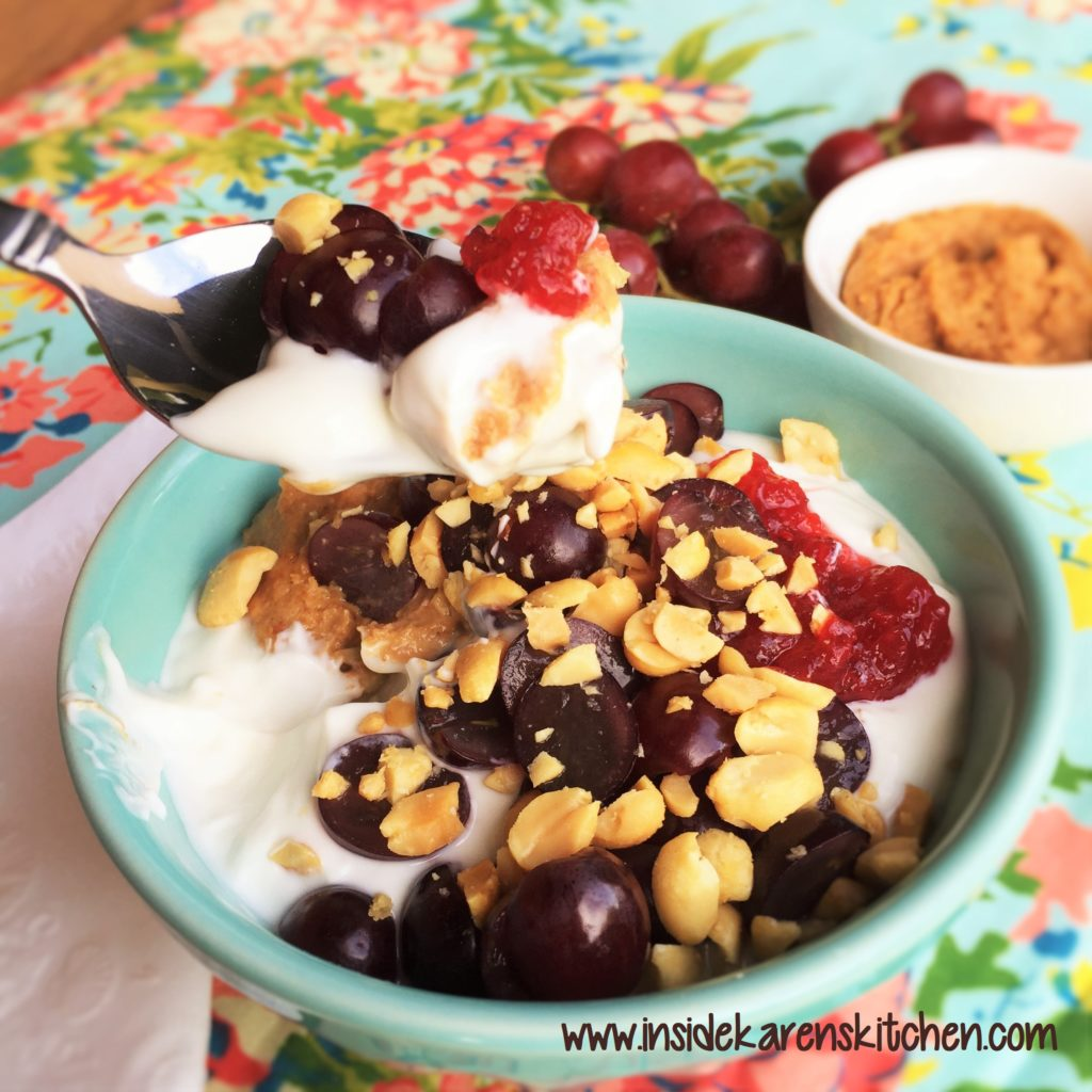 PB and J Greek Yogurt Bowl | Inside Karen's Kitchen