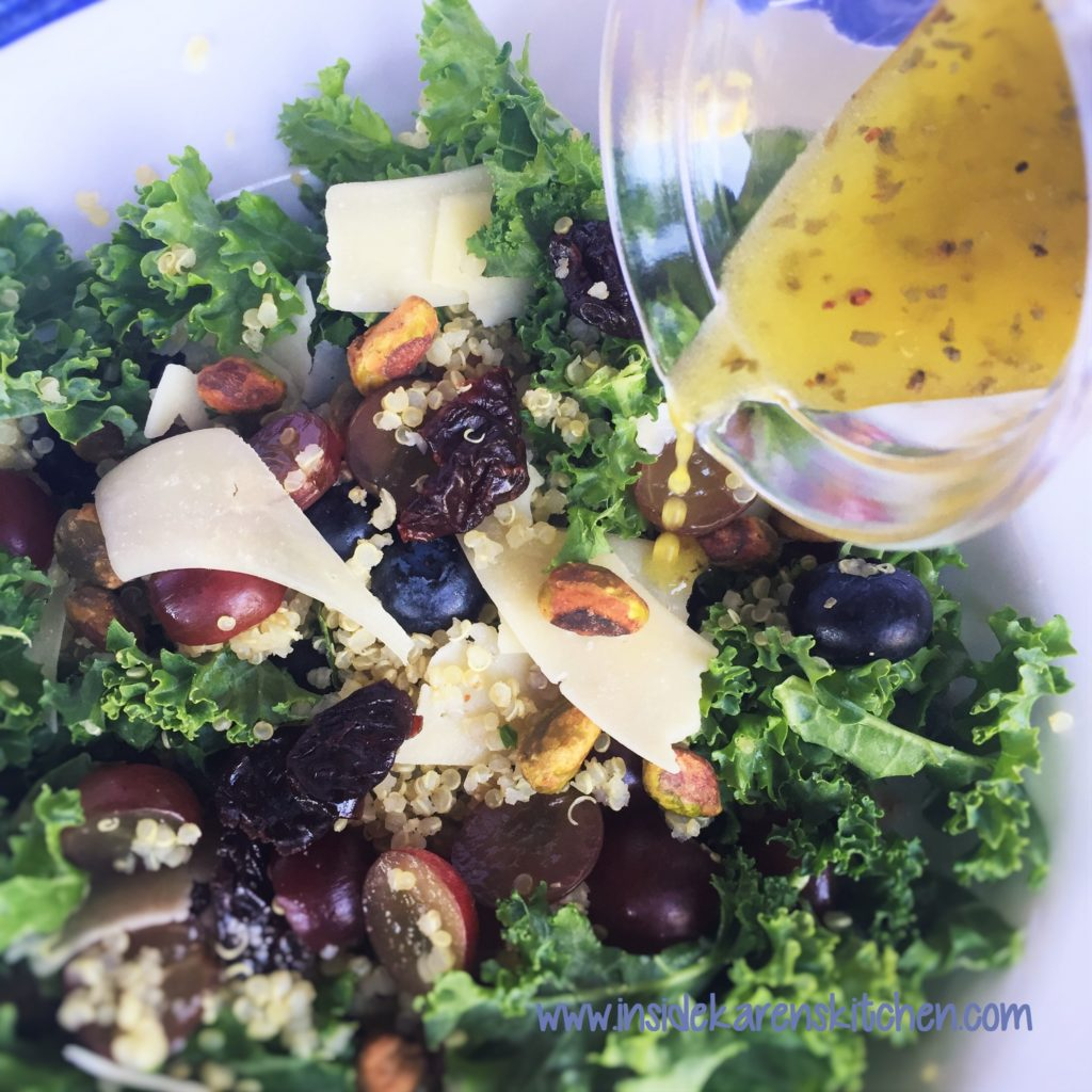 Kale and Quinoa Salad with Lemon Oregano Dressing