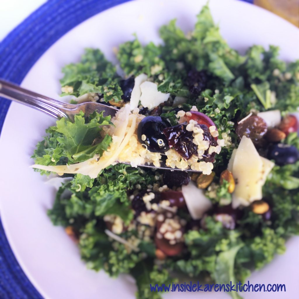 Kale and Quinoa Salad with Lemon Oregano Dressing 3