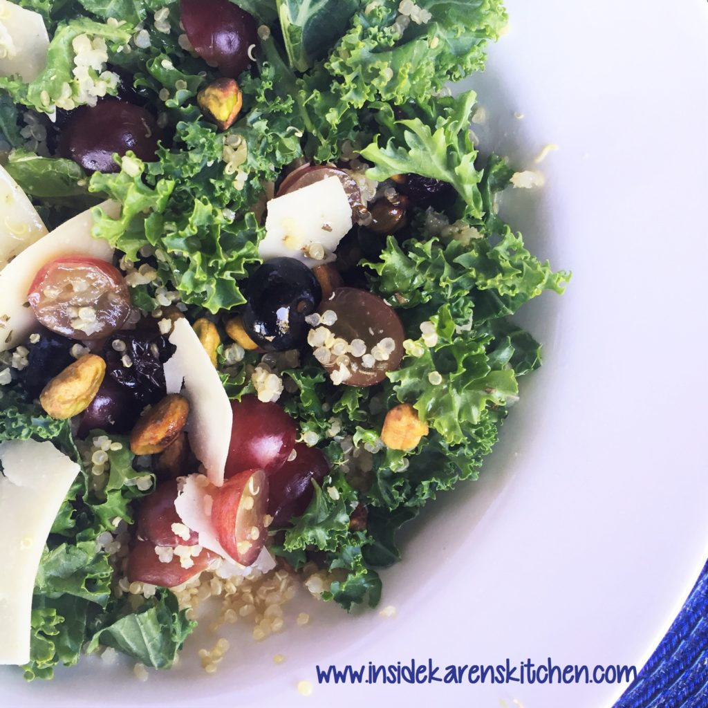 Kale and Quinoa Salad with Lemon Oregano Dressing 4