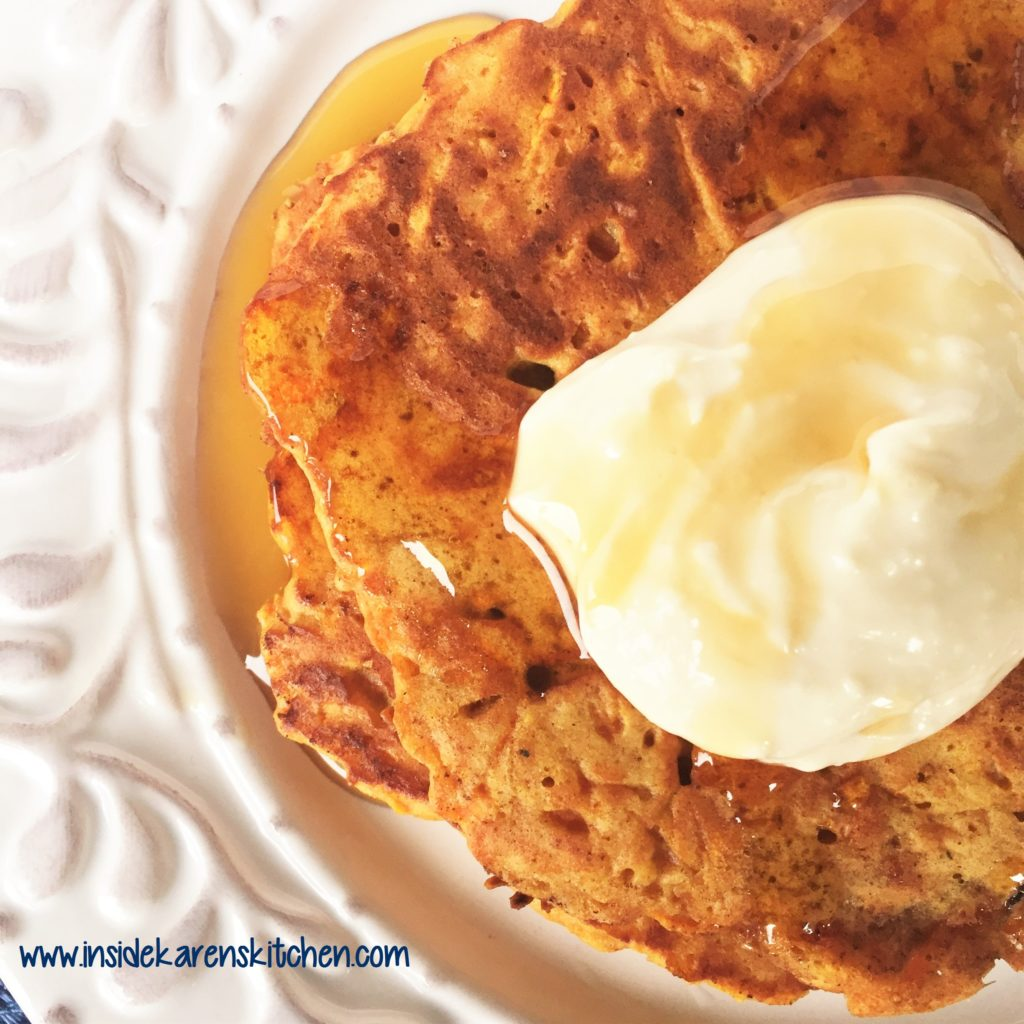 Carrot Cake Pancakes With Cake Mix