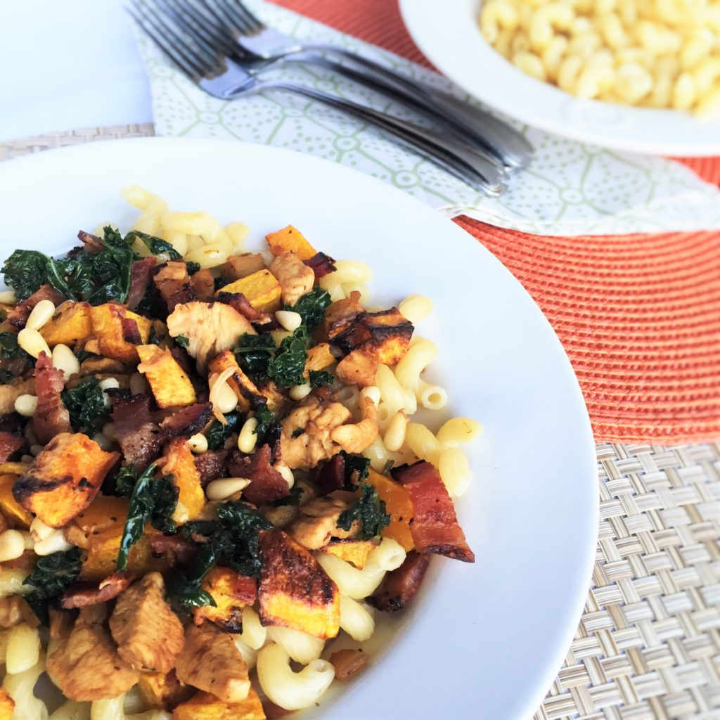 Chicken, Butternut Squash and Kale Pasta