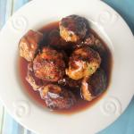 Chicken Meatballs with Orange Sweet-n-Sour Sauce